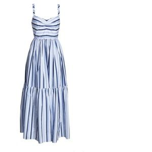 NWOT... J Crew blue stripped maxi sundress